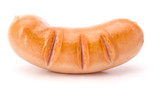 One Roasted sausage isolated on white background cutout - 221036649