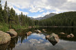 A reflection of the clouds into Bear Lake.  Shot in Rocky Mountain National Park.