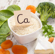 Products and ingredients containing calcium and dietary fiber, healthy nutrition concept - 221060222