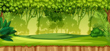 A green jungle landscape - 221061812
