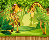 Giraffe in the jungle - 221062007