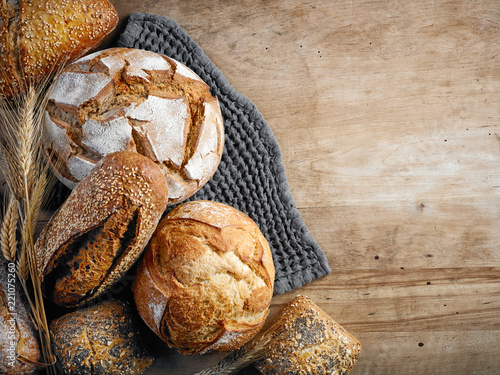 various freshly baked bread - 221075260