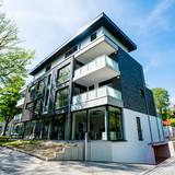 Modern apartment buildings exteriors - 221078044