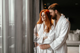 Beautiful couple enhoying wellness weekend - 221080451