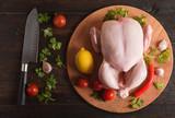 raw whole chicken - 221080640