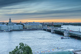 St. Petersburg from the roof, the Palace Bridge and the Neva River - 221082020