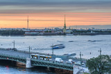 St. Petersburg from the roof, the Palace Bridge and the Neva River - 221082200