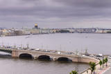 View of St. Petersburg from the roofs, Trinity Bridge over the Neva - 221083292