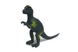 Toy Dinosaurs are made of plastic isolate on white