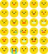 シンプルな表情のアイコン