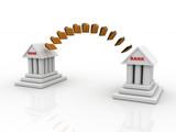 3d rendering bank to bank online transaction - 221095811