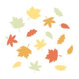 Autumn leaves graphic elements vector - 221103288