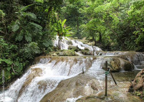 Mele Cascades - Vanuatu South Pacific. Popular tourist destination on the Island of Efate in Vanuatu - Pacific Nation.
