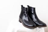 黒の革靴 - 221116095
