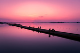 Lefkas marina at sunset, Lefkada, Greece