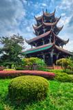 Wangjiang Pavilion in Wangjianglou park. Chengdu, Sichuan, China - 221126488