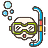 Snorkel Line Color Icon - 221134637