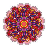 Vector oriental ornament Mandala. Multicolored pattern isolated on white background. - 221141292