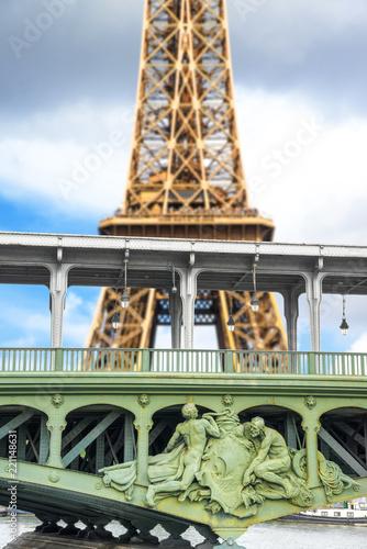 Fridge magnet la Tour Eiffel vista dalla Senna