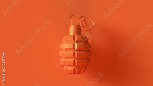 Orange Grenade Concept 3d illustration 3d render