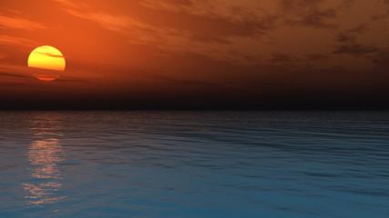 Beautiful sea and sky at sunset © Sergey Tokarev