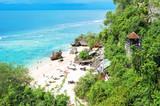 Beautiful tropical sand beach Blue sea sky Bali
