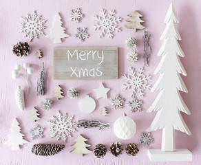 Christmas Decoration, Flat Lay, Text Merry Xmas © Nelos