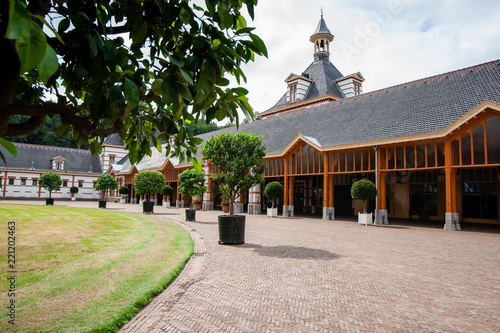 Exterior of the coach house and stables of former royal palace in the Netherlands