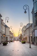 Kielce, the center of Sienkiewicza Street
