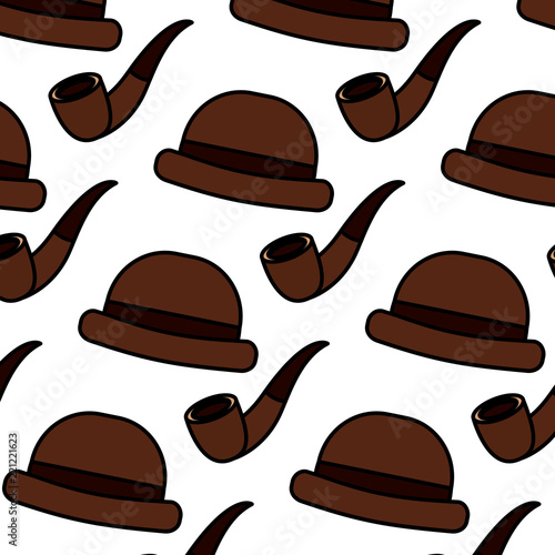Classic Hat And Tobacco Pipe Hipster Style Wallpaper Buy Photos