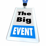 The Big Event Special Conference Attendee Badge 3d Illustration - 221226884