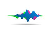 Sound wave colorful background. Gummy speaking. Vector illustration - 221229254