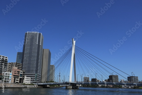 東京 隅田川 中央大橋 風景