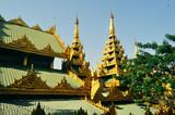 A corner of Shwedagon pagoda - 221242880
