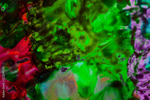 mystical abstraction of watercolors in dark tones fantastic background - 221244293
