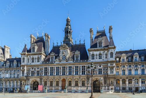 Fridge magnet City hall, Paris