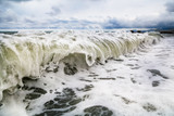 Storm waves on the seashore as a background - 221251079