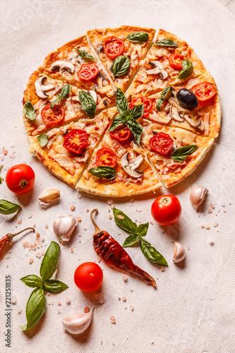 Fototapeta Fresh homemede pizza
