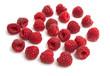Leinwanddruck Bild - raspberry isolated