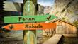 Schild 353 - Ferien