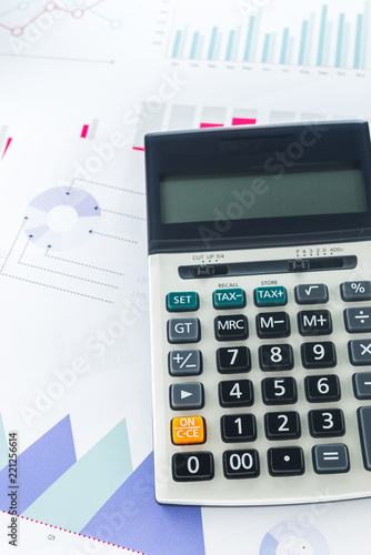Calculator with Business Graphs finance document.	 - 221256614