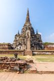 Ancient pagoda in historical park Wat Phra si sanphet ayutthaya thailand - 221262409