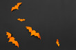 Leinwandbild Motiv halloween and decoration concept - paper bats flying