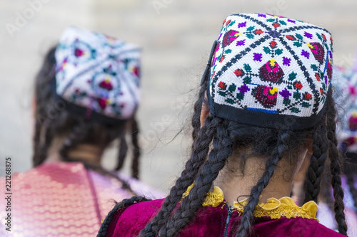 Folk dancers performs traditional dance at local festivals in Khiva, Uzbeksitan. - 221268875
