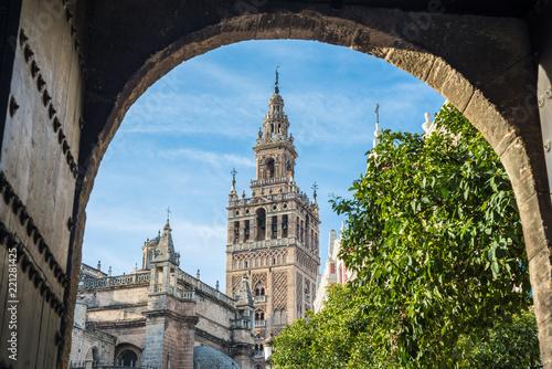 The Patio de Banderas in Seville, Spain.