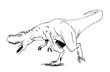 dinosauro tirannosauro rex disegnato a mano - 221281847