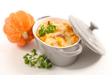 pumpkin gratin with cheese