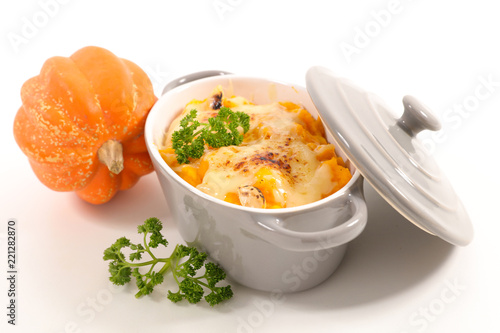 pumpkin gratin with cheese - 221282870