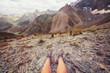 Leinwanddruck Bild - Hike in Fann mountains