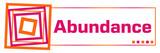 Abundance Pink Orange Squares Horizontal  - 221284809